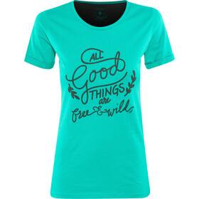 Triple2 Laag Handwrite T-Shirt Women Women lapis